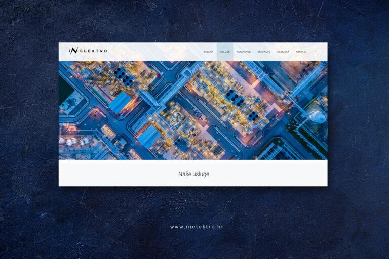 Vizualni identitet, izrada web stranice Slavonski Brod IN Elektro